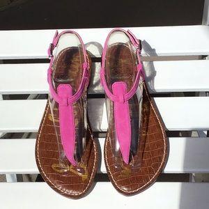 NWOT Sam Edelman Gigi pink suede thong. Size 6-1/5